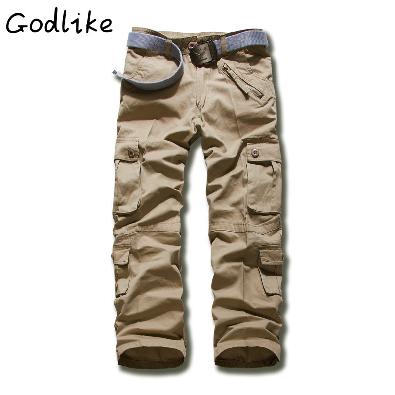 Godlike 2018 New Males's Workwear Free Massive Dimension Cotton Excessive High quality Multi-Pocket Trousers/males's Vogue Informal Pants