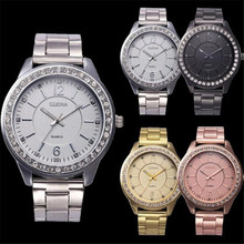 snowshine 10xin Women Men Unisex Stainless Steel Analog Quartz Wrist Watch free shipping