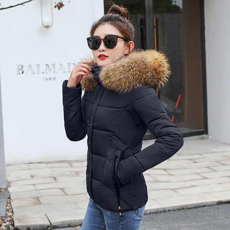 2019 Winter Jacket women Plus Size Womens Parkas Thicken Outerwear solid hooded Coats Short Female Slim