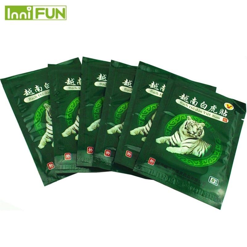48 copë / 6 çanta Vietnami Tiger White Tiger Balm Patch Cream Qafë - Kujdesit shëndetësor