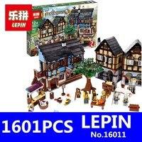 Medieval Manor Castle Set LEPIN 16011 1601Pcs Castle Series Educational Building Blocks Bricks Model Toys For
