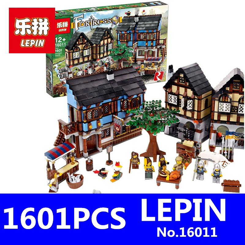 LEPIN 16011 1601Pcs Medieval Manor Castle Set Castle Series Educational Kit Building Blocks Bricks Model Toys for Children Gifts 472pcs set banbao princess series castle building blocks girl friends favorite scene simulation educational assemble toys