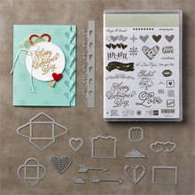 DiyArts Love Note Transparent Clear Rubber Stamp Silicone Scrapbooking DIY Photo Album Decor Paper Cards Craft Handmade Gifts(China)
