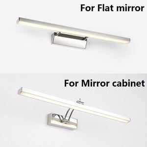 Image 2 - LED ミラーライト 40 50 センチメートル防水現代の美容壁ランプステンレス浴室燭台ランプキャビネット照明デコレーションライト