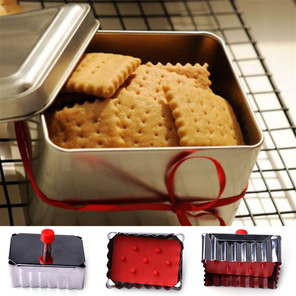 1 pcs Classical Shape Cookie Mold Stainless Steel Spring Press Fondant Cutters Cookie Cutter Cupcake Decoration Tool ...