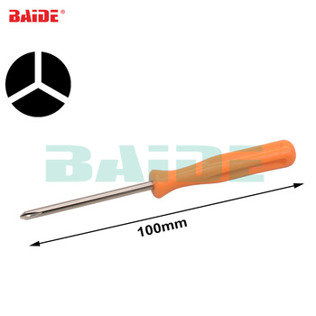 Orange 1.5Y 1.5/2.0/3.0mm Tri Wing Y1 Screwdriver Tri-point for Wii DS Lite DS Repair Opening Tool for Laptop Battery 500pcs/lot