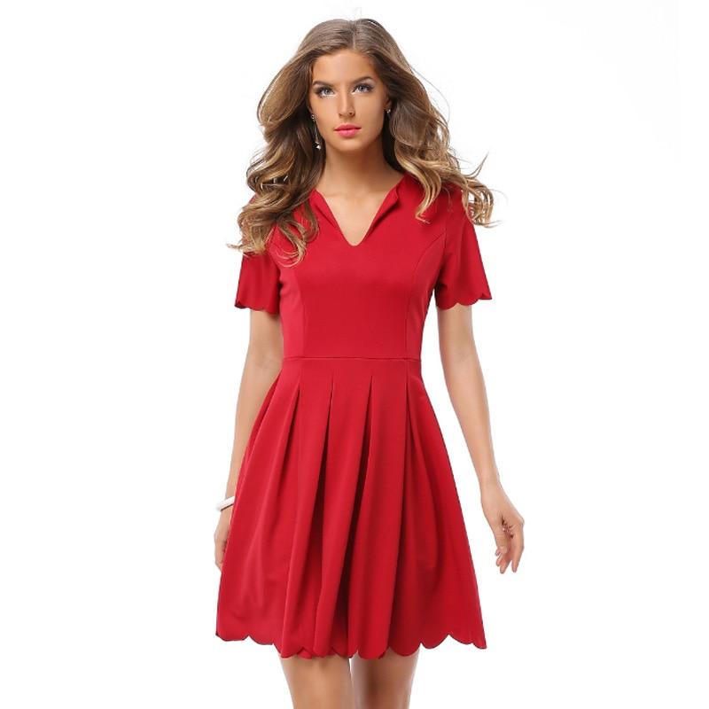 New 2018 Summer Women Dress Short Sleeve Casual Xxl Plus Size