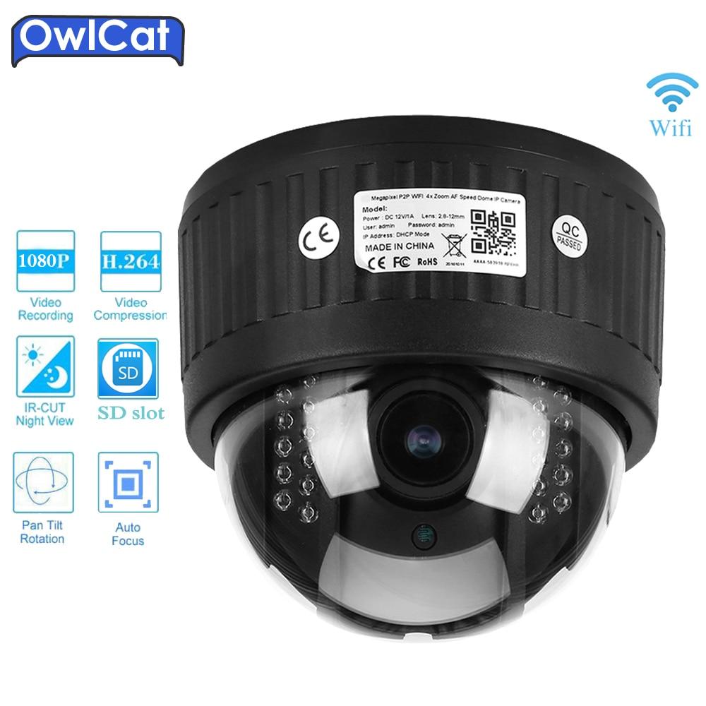 Здесь продается  OwlCat HD 1080P Indoor Security CCTV Dome Wireless PTZ IP Camera Wifi 960P 5X Zoom 2.7-13.5mm 2.0MP Audio Microphone SD Card IR   Безопасность и защита