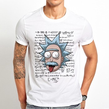 Rick Einstein mass energy equivalence funny t shirt men 2019 summer new white casual homme cool geek tshirt Ricky and morty