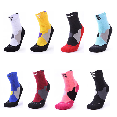 Men Basketball Elite Socks  Sports  Riding Cycling Basketball Running Sport Sock Summer Hiking Tennis Ski Man Bike Bicycle Slip