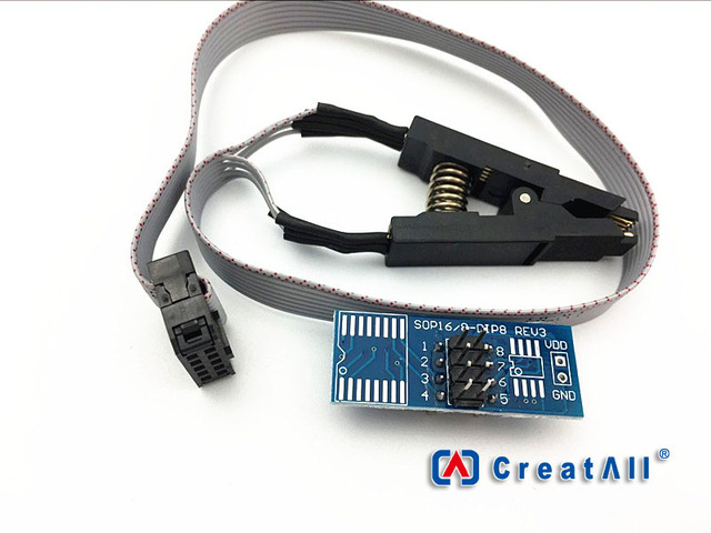 SOIC8 SOP8 Test Clip IC Test Converter Socket Chip Programmer Adapter for EEPROM 93CXX/25CXX/24CXX TL866CS TL866A EZP2010