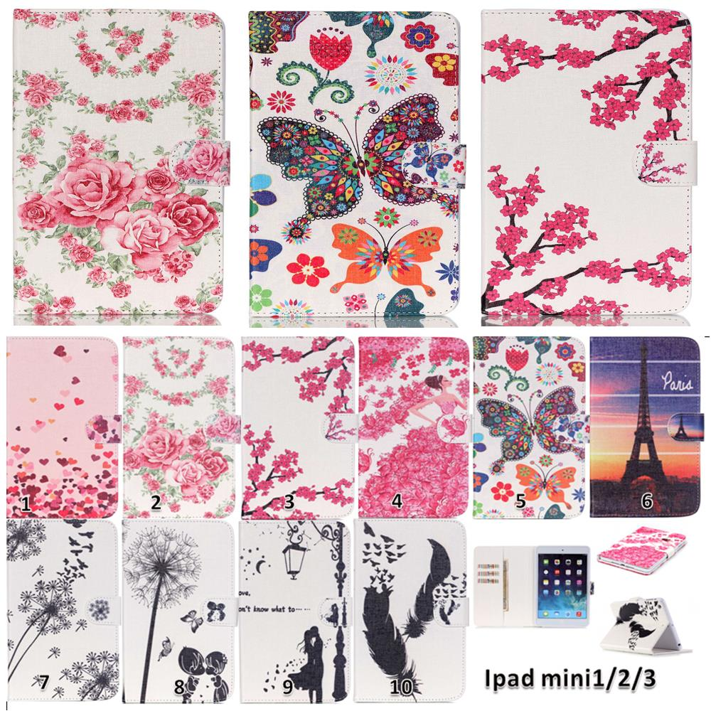 For Apple iPad mini 1 2 3 Eiffel Tower Butterfly Flip PU Leather Case Stand Tablet Cover For ipad mini1 mini2 mini3 7.9 #