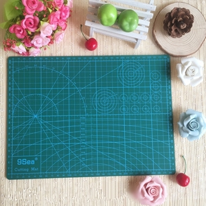 "Image 1 - PVC Cutting Mat a4 ""9 Sea"" Durable Self Healing Handmade DIY Quilting Accessories Flexible Green Patchwork Board Tool 30*22 cm"