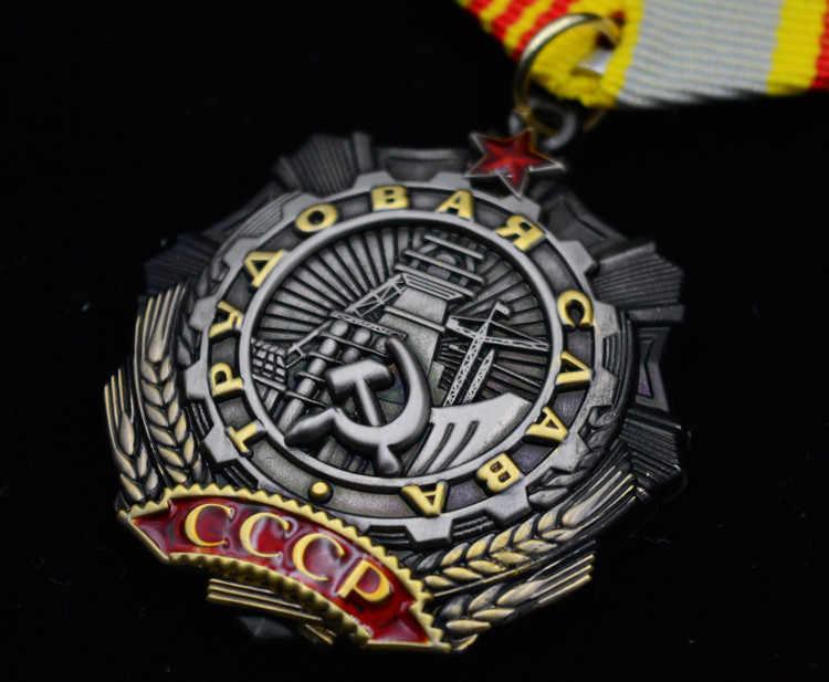 Kualitas Pro Kitty Medali Perang Dunia II Lenin Bendera Merah Venus Merah Bintang Pahlawan Uni Soviet Soviet Serikat Buruh Kemuliaan Medali kehormatan Baris Timur