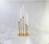 5 arms Candlestick metal Candelabra Candle Holders Wedding Table Centerpiece Candle stand Candelabrum candlelight dinner Home