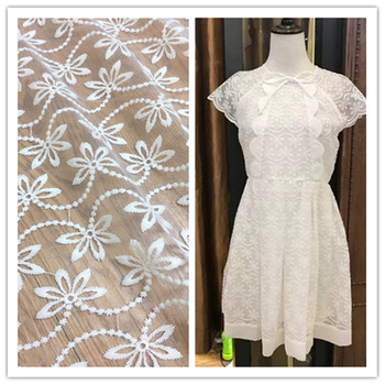 Garment Accessories Water-soluble Embroidery Mesh Embroidered Milk Silk Lace Women's Wear Fabric