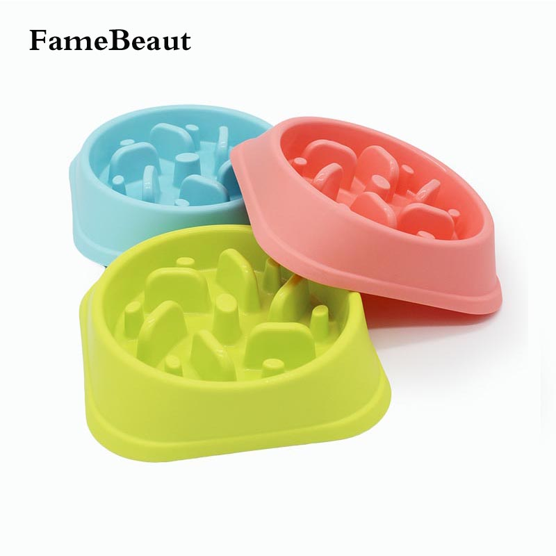 FameBeaut Strange New Anti-Choking Dog Bowl Jungle Bowl Heals