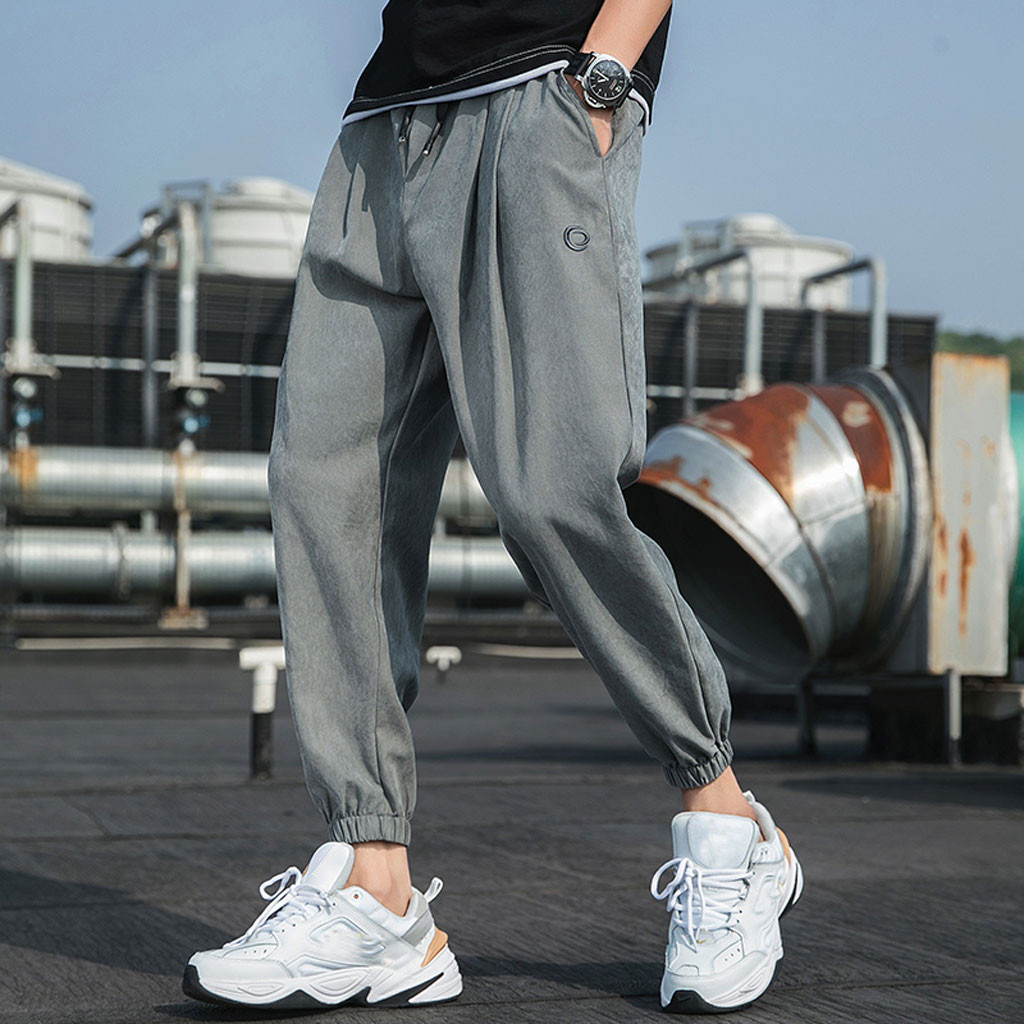 Fashion Pants Joggers Streetwear Loose Men's Casual Pure-Color Hip-Hop-Style