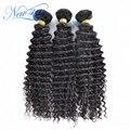 Горячие продажа new star волос Бразильский deep curl девы волос 3 шт./лот одного донора необработанные высокое качество человеческих волос