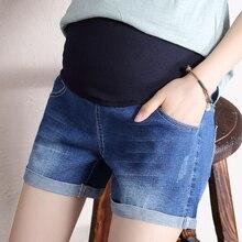 Брюки для беременных pengpious женские летние джинсовые шорты синее Материнство для живота короткие джинсы модные хлопковые горячие шорты регулируемые большие размеры 5XL
