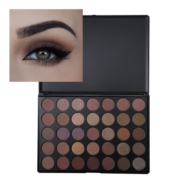 Brand Cibbcci PRO 35 Full Color Nude Smoky Eyeshadow Palette Makeup High Gloss Eye Shadow Palette Matte Shimmer Make Up Cosmetic