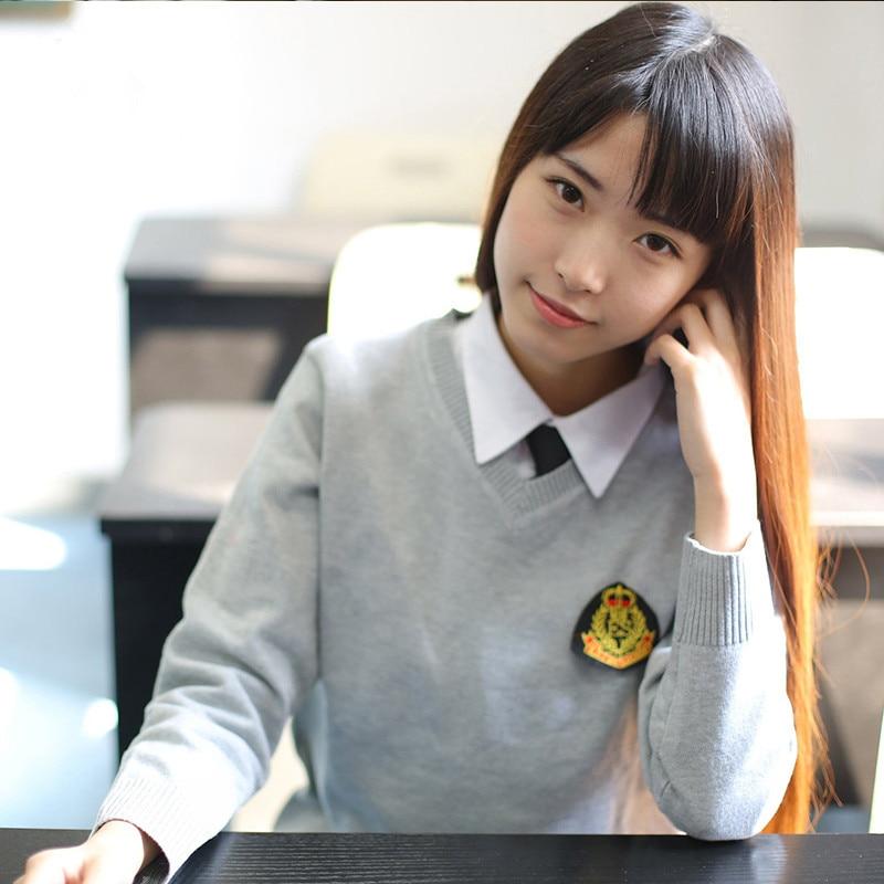 New Arrival Jk School Uniforms Cardigans Sweater Tops Japanese Students Uniform Cute Girls High School Sweaters Long Sleeve Xxl