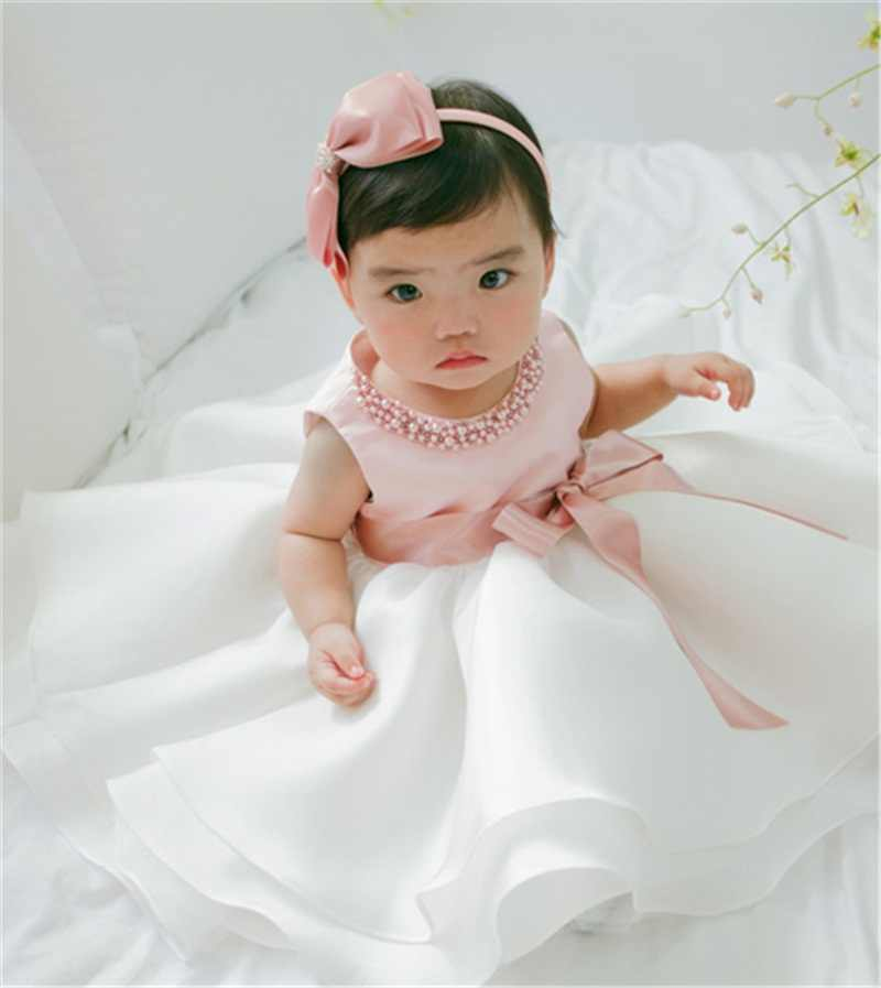 ... Newborn Baby Girls Summer Clothes Dress Toddler Girl 1 Year First  Birthday Outfits Pink Tutu Kid ... acecd4ca899a