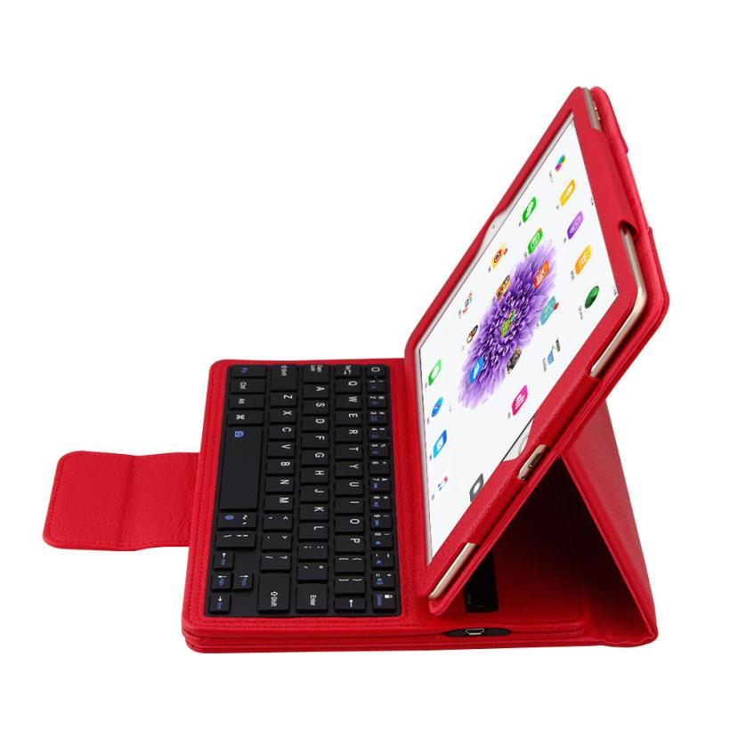 #AE PU Leather Flip Wireless Bluetooth Keyboard Case Cover for ipad Pro 9.7 inch ap7