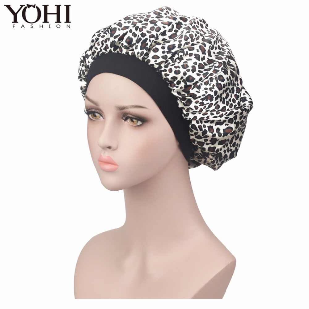 eaa0c81984f New women Sleeping cap high quality Luxury Satin Bonnet Cap Comfortable  Night Sleeping Hat Hair Loss
