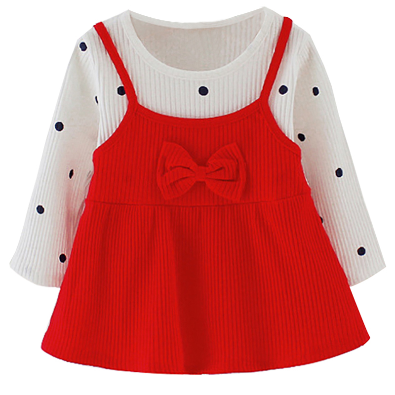 Brand Baby Dresses Long Sleeve Bow Party Prom Dress Newborn Bebes Girls Clothes New Year Costume Easter Fashion Toddler Clothing