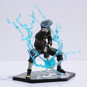 Image 1 - Anime giapponese Naruto Hatake Kakashi PVC Action Figure Toy con Lightning Blade 16cm ottimo regalo spedizione gratuita