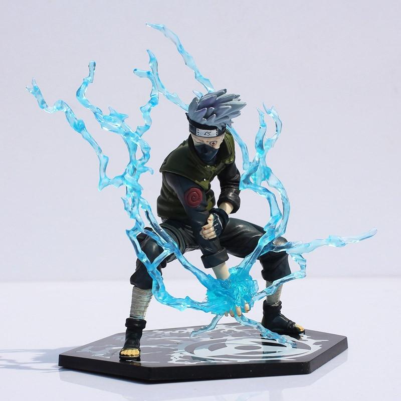 Figurine en PVC japonais Naruto Hatake Kakashi avec lame de foudre 16 cm super cadeau livraison gratuite