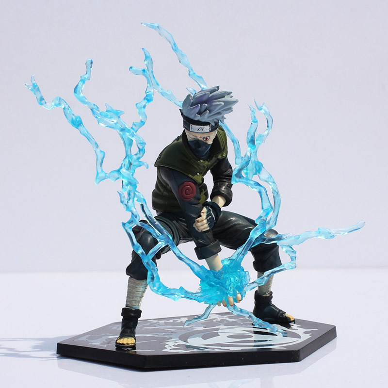 Japanese Anime Naruto Hatake Kakashi PVC Action Figure Toy With Lightning Blade 16cm Great Gift Free Shipping