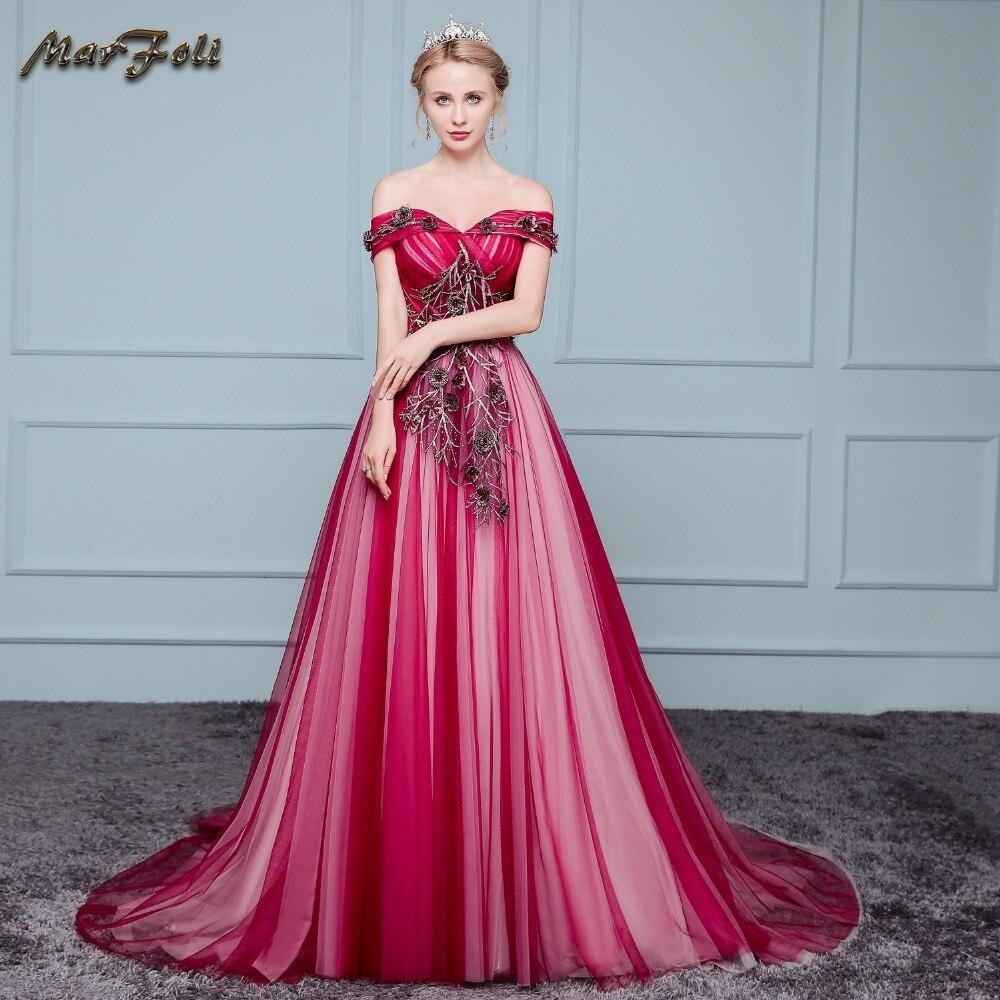 Compra vestidos de boda de la princesa roja online al por mayor de ...