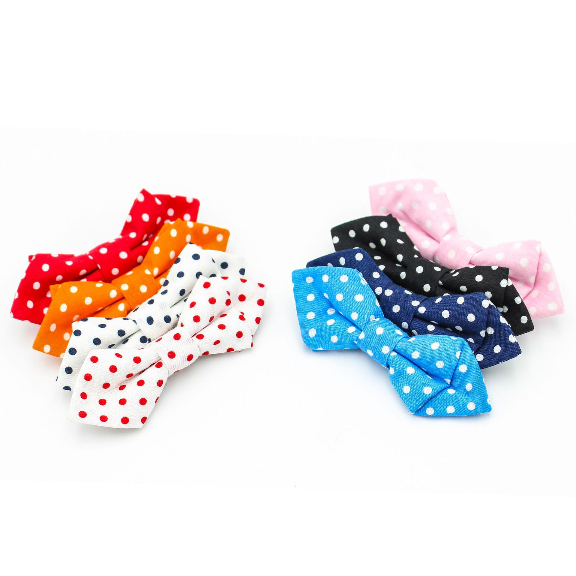 VEEKTIE Safety Pin Bow Tie Kids Children Boys Girls Baby Dots Bowtie Butterfly Plaid Dot Corbatas Krawatte Noeud Papillon Lovely
