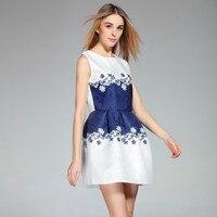 Vintage Print Party Women Summer Dress 2017 Casual O Neck Sleeveless Casual Ladies Vestidos Mini Slim
