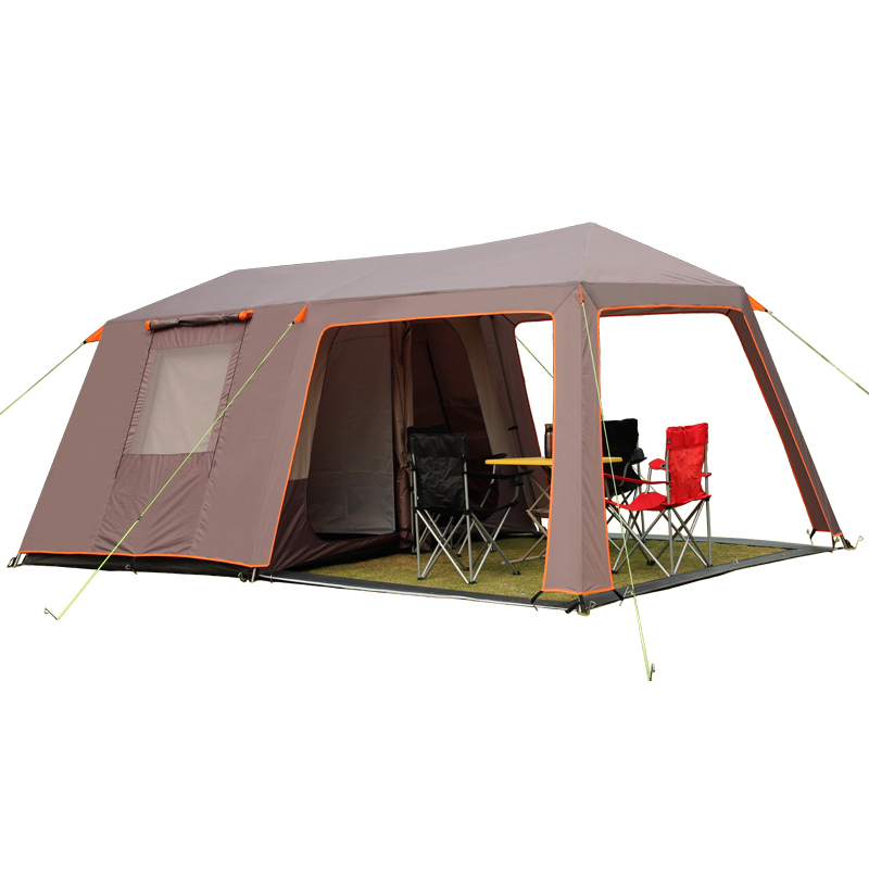 VANQUISHER large space one hall two bedrooms waterproof windproof family party camping tent with top good