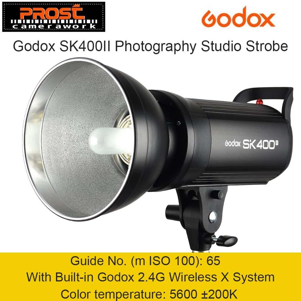 Godox SK400II 400W 400WS GN65 Professional Studio Flash Light Strobe Lighting with Built in Godox 2.4G Wireless X System