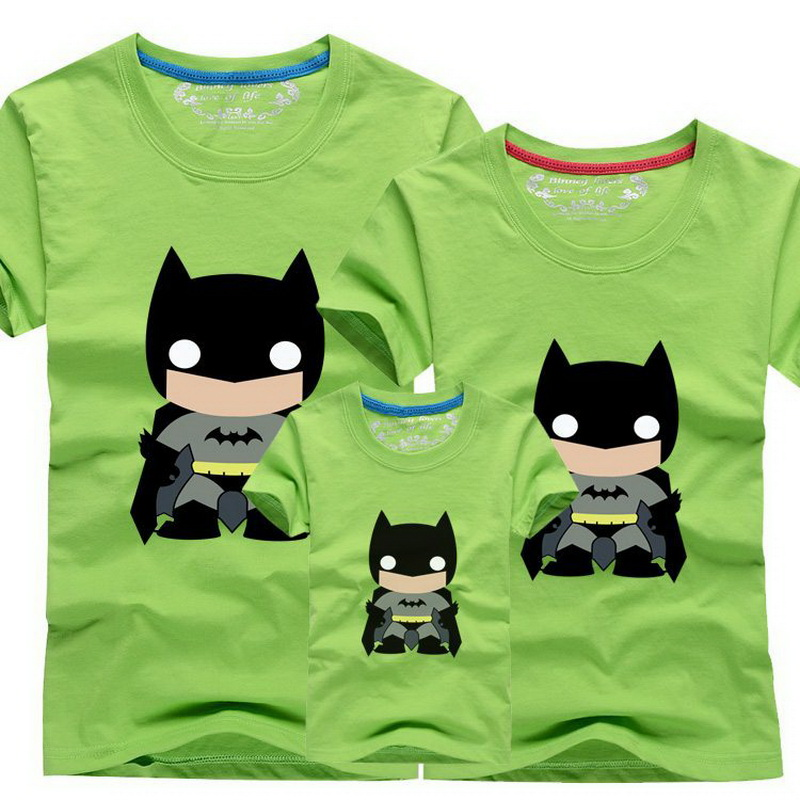 Passende Familienoutfits Hc002 Moderater Preis 1 Stück Familie T Shirts Batman Charakter Design Dad & Mom & Kid Familie Passenden Outfits Kurzarm Sommer T Hemd