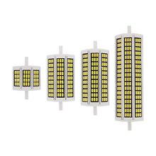 1 قطعة 10W 20W 25W 30W R7S LED لمبة ذرة 78 مللي متر 118 مللي متر 135 مللي متر 189 مللي متر AC 220V SMD 5730 مصباح استبدال الهالوجين ضوء الكاشف الإضاءة