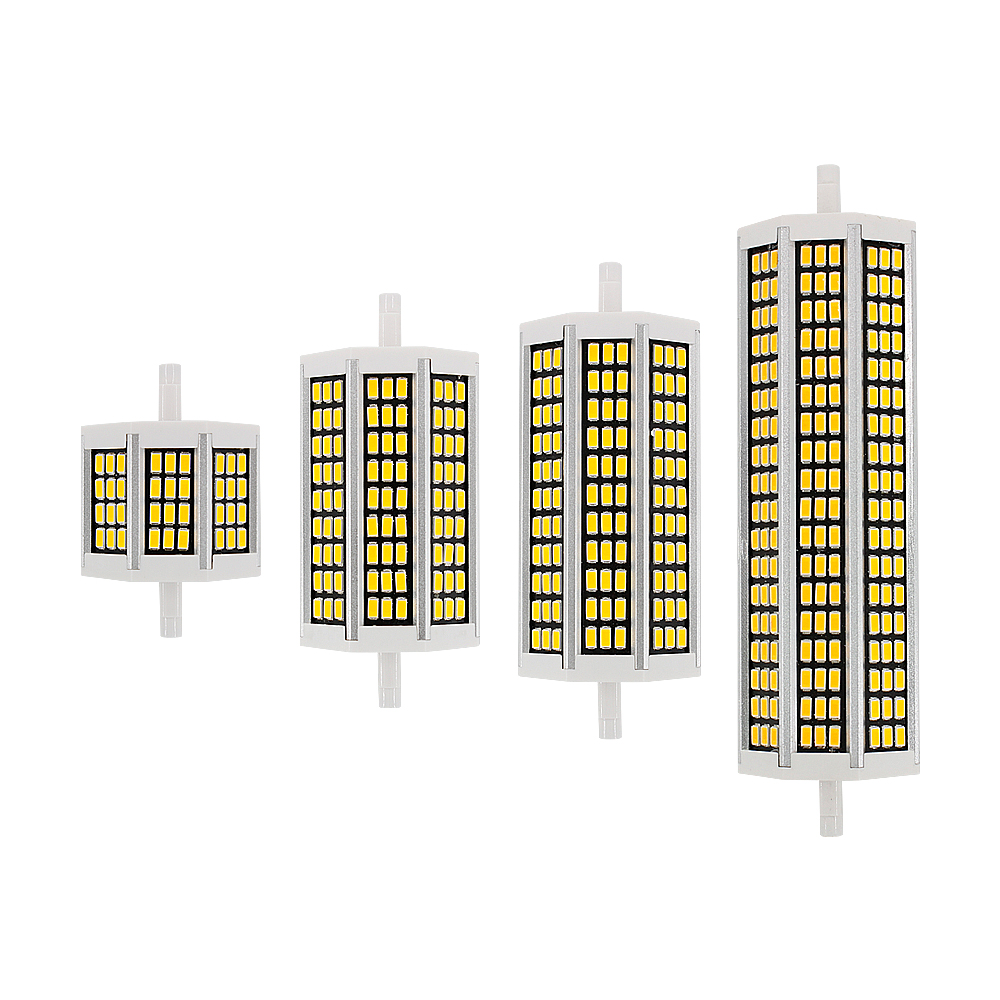 1pcs 10W 20W 25W 30W <font><b>R7S</b></font> <font><b>LED</b></font> Corn Bulb 78mm 118mm 135mm 189mm AC 220V SMD 5730 Lamp Replace Halogen Light Floodlight Lighting image
