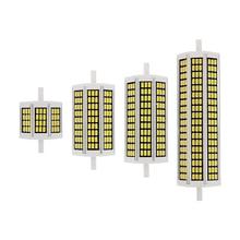Bombilla LED de mazorca de maíz, reemplazo de lámpara halógena, 10W, 20W, 25W, 30W, R7S, 78mm, 118mm, 135mm, 189mm, CA, 220V, SMD 5730