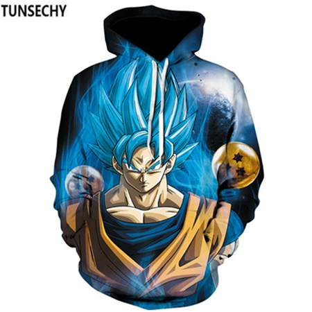 TUNSECHY Brand Dragon Ball 3D Hoodie Sweatshirts Men Women Hoodie Dragon Ball Z Anime Fashion Casual Tracksuits Boy Hooded 8