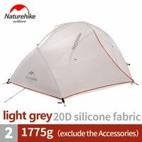 Naturehike палатка обновленная звезда река Кемпинг Палатка Сверхлегкий 2 человек 4 сезона 20D силиконовые с бесплатной коврики NH17T012-T