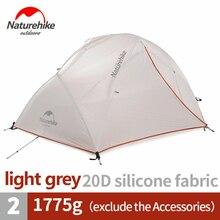 Naturehike אוהל משודרג כוכב נהר קמפינג אוהל Ultralight 2 אדם 4 עונה 20D סיליקון אוהל עם משלוח מחצלת NH17T012 T