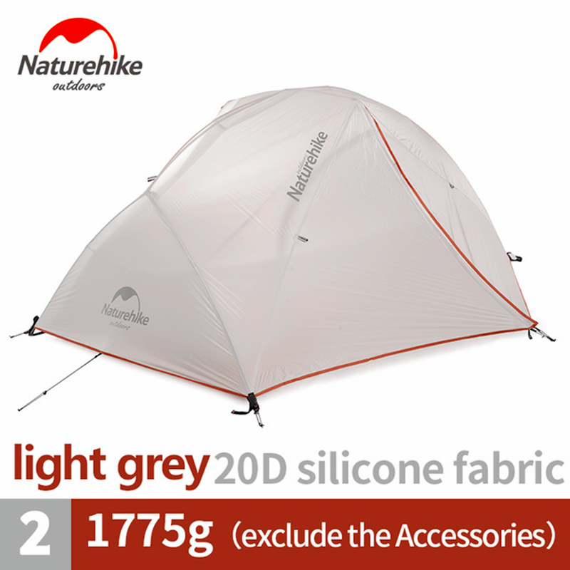 Naturehike tenda atualizado estrela rio barraca de acampamento ultraleve 2 pessoa 4 temporada 20d silicone tenda com esteira livre NH17T012-T