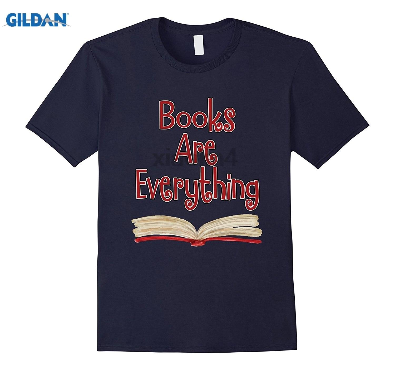 GILDAN Books Are Everything BAE Funny Readers T-Shirt Street Classic Logo Hip Hop Top Dress female T-shirt