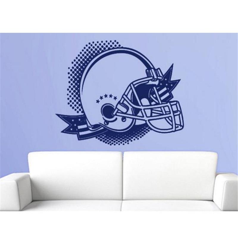 Top Sale Amerian Football Helmet Wall Stickers Decals Vinyl Sticker Home Decor Wallpaper For Bedroom