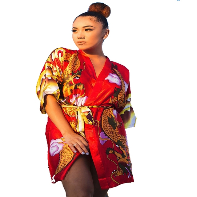Free Shipping Women\'s Hand Made Painted Kaftan Robe Gown Kimono ...