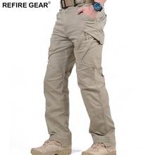 ReFire Gear IX9 nyári szabadtéri nadrágok férfiak túrázás kempingezés mászó nadrág pamut sok zsebbel elasztikus anti-pilling vadászati nadrág